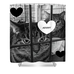 Adopt Shower Curtain by Mary Ellen Frazee