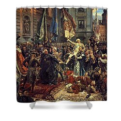 Adoption Of The 1791 Polish Constitution Shower Curtain by Jan Matejko