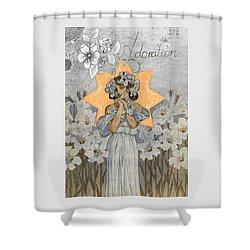 Adoration Art Deco Shower Curtain