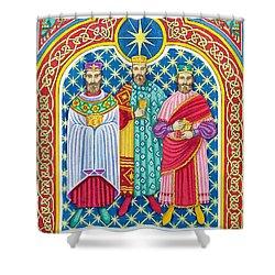 Adoration Of The Magi  Shower Curtain by Lavinia Hamer