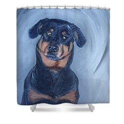 Shower Curtain featuring the painting Adrian by Donna Tuten