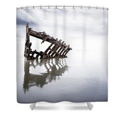 Adrift At Sea Shower Curtain by Eduard Moldoveanu