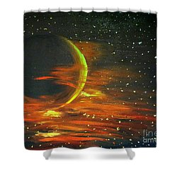 Adrift - In Space Shower Curtain