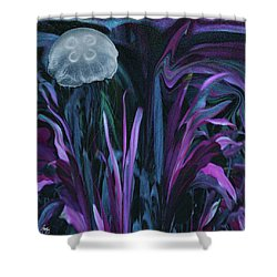 Adrift In The Mermaid Cafe Shower Curtain