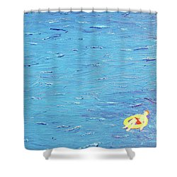 Adrift Shower Curtain by Thomas Blood