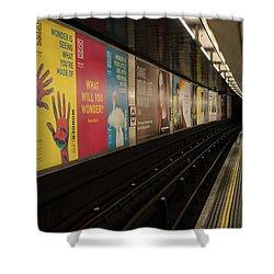 Ads Underground Shower Curtain