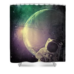 Adventure In Space Shower Curtain by Phil Perkins