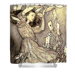 Adventures In Wonderland Shower Curtain by Arthur Rackham