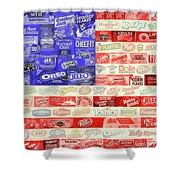 Advertising Flag Shower Curtain by Gary Grayson