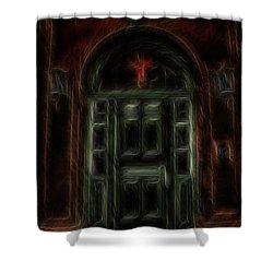 Adytum Shower Curtain by William Horden