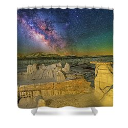 Aeons Of Time Shower Curtain