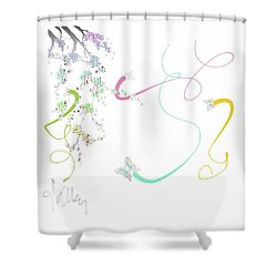 Shower Curtain featuring the mixed media Spring Fervor by Larry Talley