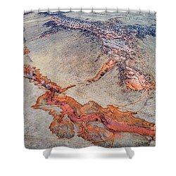 aerial landscape abstract of Colorado foothills Shower Curtain