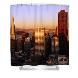 Aerial Of San Francisco Shower Curtain by James Kirkikis