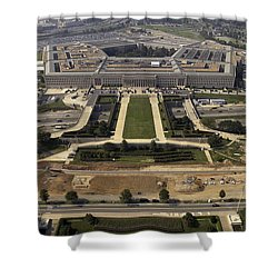 Aerial Photograph Of The Pentagon Shower Curtain by Stocktrek Images