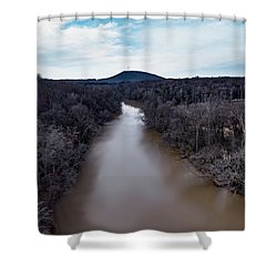 Aerial River View Shower Curtain