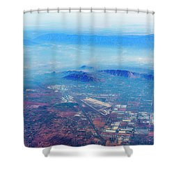 Aerial Usa. Los Angeles, California Shower Curtain by Alex Potemkin