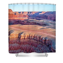 aerial view of Colorado RIver canyon Shower Curtain