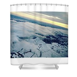Edinburgh Winter Sunset Shower Curtain by Patsy Jawo