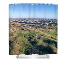 aerial view of Nebraska Sand Hills  Shower Curtain