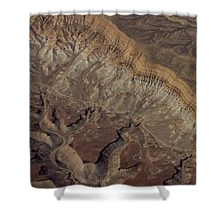 Shower Curtain featuring the photograph Aerial View Of Rock Formation by Ivete Basso Photography