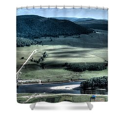 Aerial View Of Rolling Russian Hills Shower Curtain