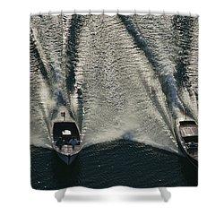 Aerial Wash Shower Curtain