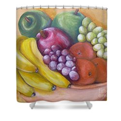 Shower Curtain featuring the painting Affluent by Saundra Johnson