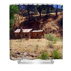 Cozy Cabin Kern County California Shower Curtain