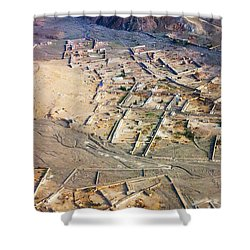 Afghan River Village Shower Curtain