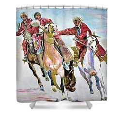 Afghan Sport. Shower Curtain