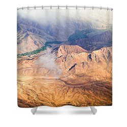 Afghan Valley At Sunrise Shower Curtain