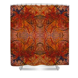 Aflame With Flower Quad Hotwaxed Version Of Acrylic/watercolour Shower Curtain