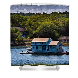 Afloat Shower Curtain by Tricia Marchlik