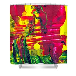 Africa - Abstract Colorful Mixed Media Painting Shower Curtain