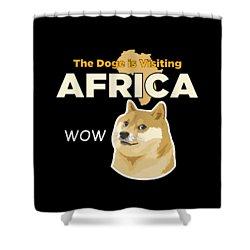 Africa Doge Shower Curtain by Michael Jordan