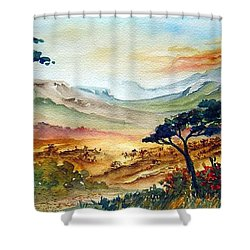 Africa Shower Curtain