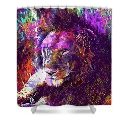 Shower Curtain featuring the digital art Africa Safari Tanzania Bush Mammal  by PixBreak Art