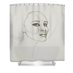 African American Woman 2 Shower Curtain by Jani Freimann