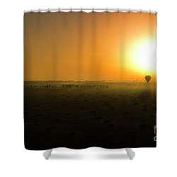 Shower Curtain featuring the photograph African Balloon Sunrise by Karen Lewis
