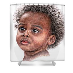 African Child Shower Curtain by Nicole Zeug