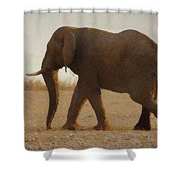African Elephant Walk Shower Curtain by Ernie Echols
