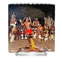 Shower Curtain featuring the photograph African Fire Dance by Rick Bragan