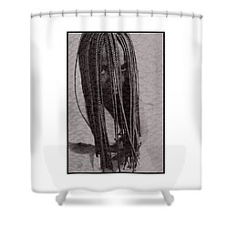 African Girl With Brfaids Shower Curtain