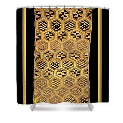 Shower Curtain featuring the digital art African Kuba Cloth Print by Vagabond Folk Art - Virginia Vivier