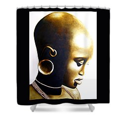 African Lady - Original Artwork Shower Curtain