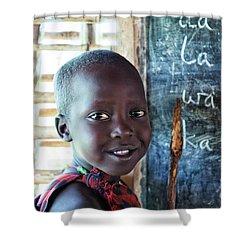 Maasai School Child Shower Curtain