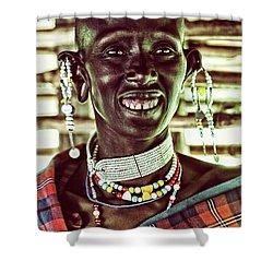 African Maasai Teacher Shower Curtain