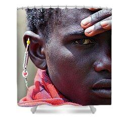 African Maasai Warrior Shower Curtain