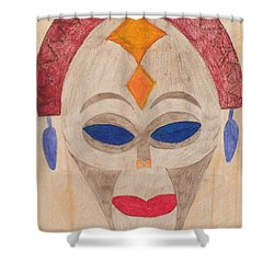 African Mask Shower Curtain